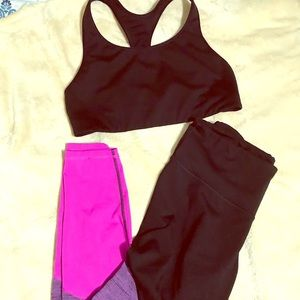 Old Navy Go Dry active set (sports bra & leggings)